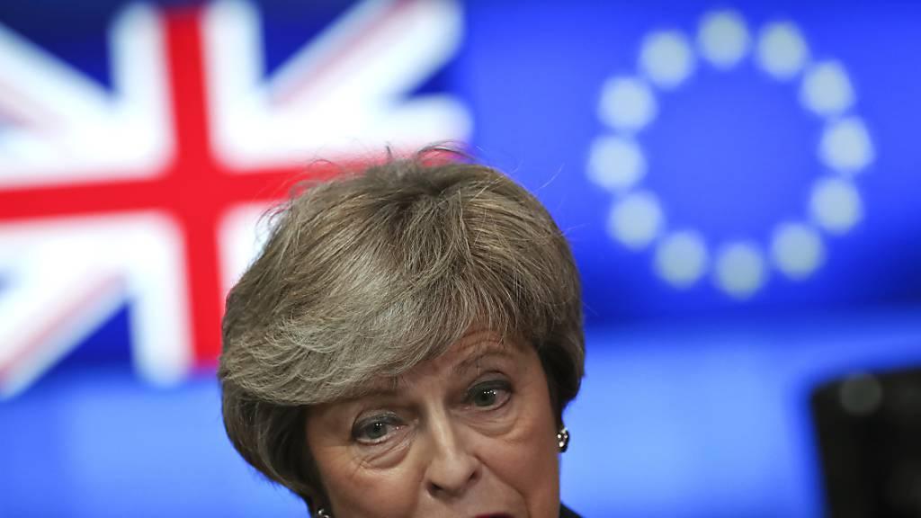 ARCHIV - Die damalige britische Premierministerin Theresa May in Brüssel. Foto: Francisco Seco/AP/dpa