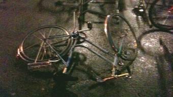 Auch Fahrräder fielen den Böen zum Opfer