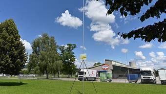 An diesem Standort entsteht das neue Gebäude der Dr. Oetker AG in Obergösgen.