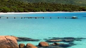 Der Strand von Figari.