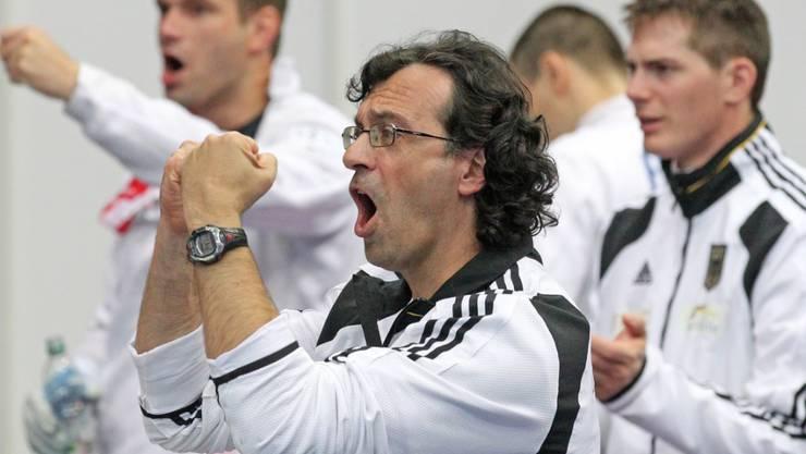 Der frühere deutsche Männerdegen-Bundestrainer Didier Ollagnon (im Vordergrund) ist seit Anfang Jahr Schweizer Chef-Nationalcoach