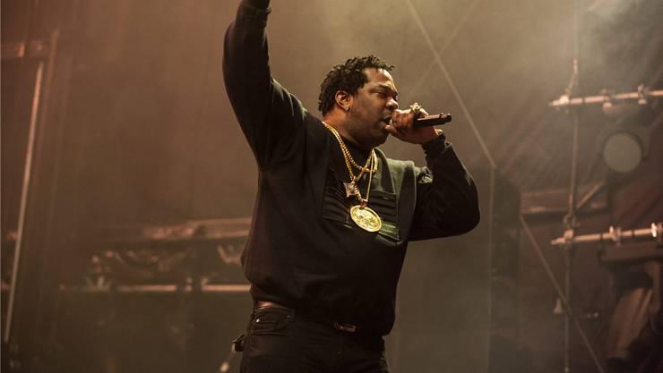 Behäbig auf der Bühne, konnte er die Massen trotzdem begeistern: US-Rapper Busta Rhymes am Touch the Air in Wohlen.
