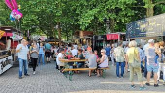«Das Gelände ist bestens geeignet», sagt Rolf Arnet. Das Street Food Festival fand 2018 erstmals auf dem Maienzugplatz statt.