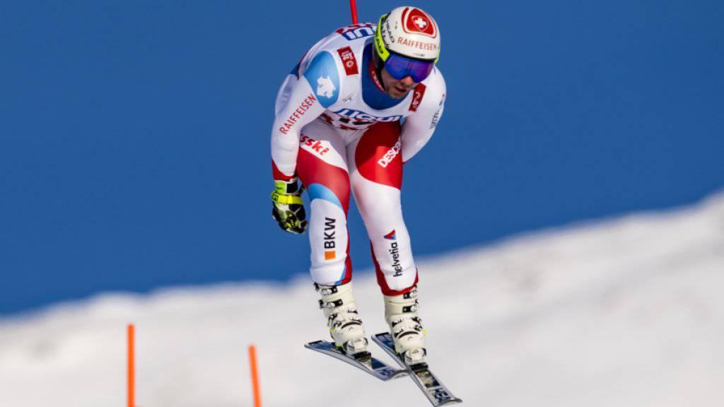 Beat Feuz war als bestklassierter Schweizer im ersten Training Sechster