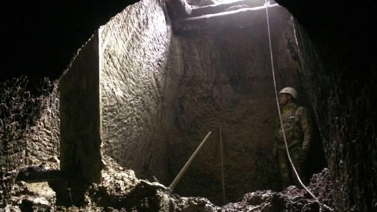 Das in Habsburg entdeckte Loch ist eine mindestens 180 Jahre alte unterirdische Baute – vermutlich eine Wasserfassung.
