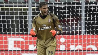 Gianluigi Donnarumma rettet Milan den Startsieg mit einer späten Penalty-Parade