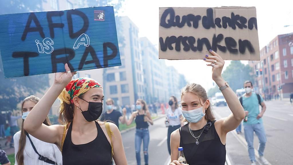Die Demonstration «Zug der Liebe» findet in Berlin unter dem Motto «Wir für euch» statt.