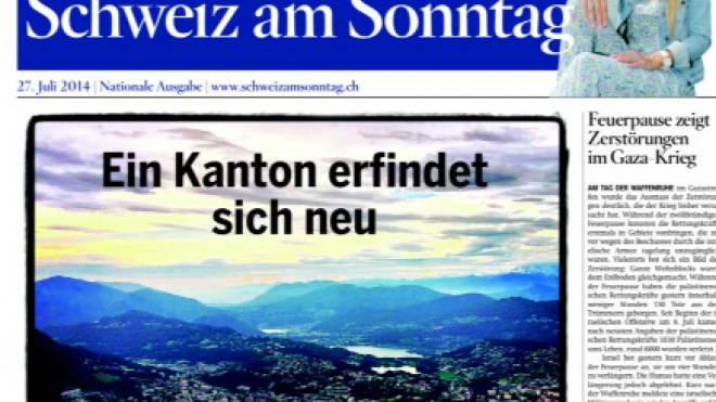 Frontcover der Tessin-Ausgabe.