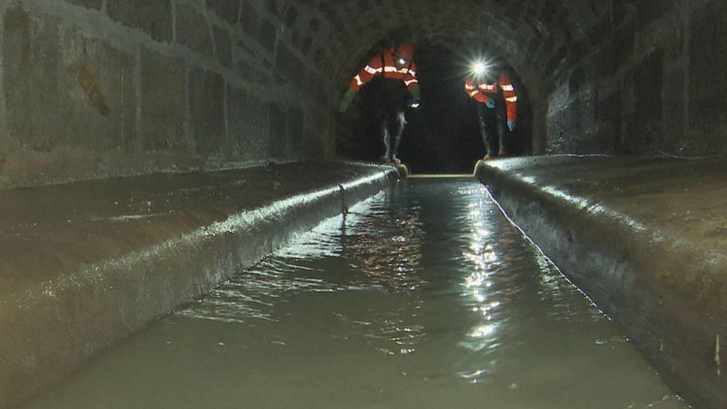 Einblick in die Kanalisation