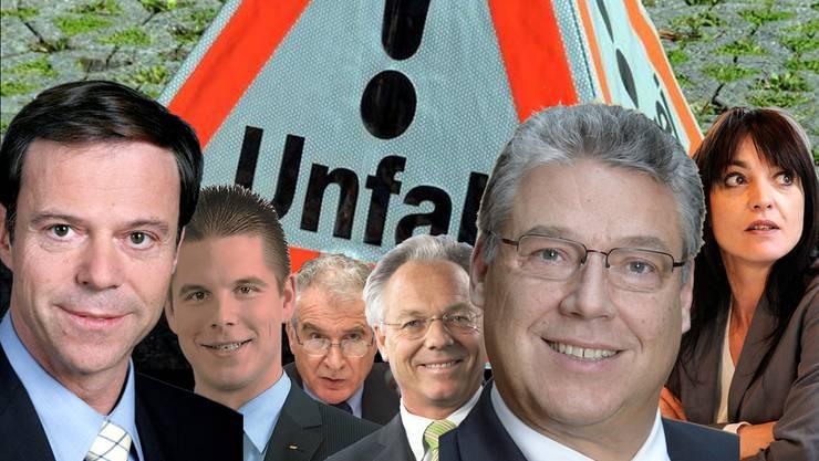 Lombardi, Mörgeli und Co.: Das sind die Schweizer Unfallpolitiker
