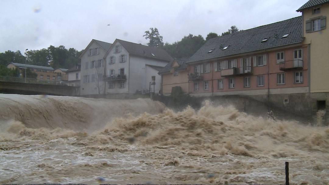 Kanton Thurgau gibt Hochwasser-Warnung heraus