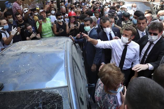 Macron sicherte dem Libanon Unterstützung zu.