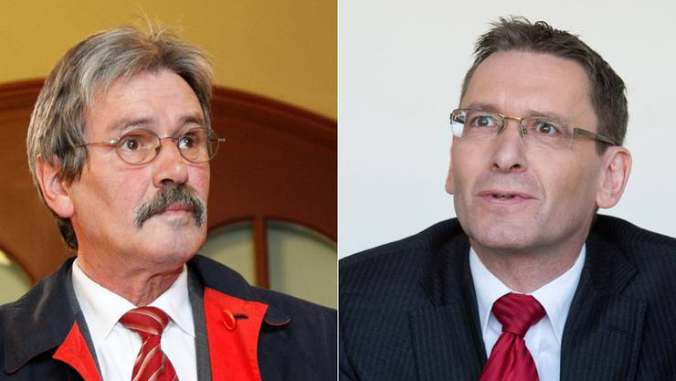 Solothurner Ständeräte Roberto Zanetti und Pirmin Bischof