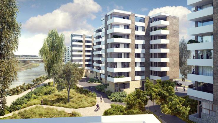 Auf dem Areal zwischen Sihl und Allmendstrasse sind insgesamt vier Gebäude mit insgesamt 275 Wohnungen vorgesehen.