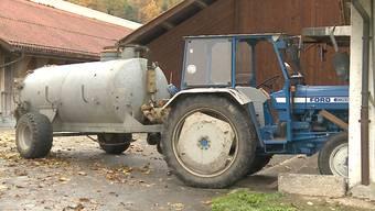 Mit diesem Traktor ereignete sich der Unfall.
