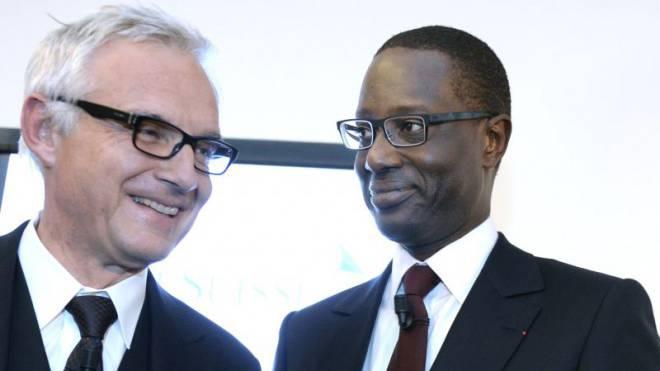 CS-Verwaltungsratspräsident Urs Rohner (l.) und CEO Tidjane Thiam. Foto: Keystone