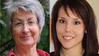 Sabine Kubli (links), die Leiterin der Fachstelle für Gleichstellung, und die abtretende kantonale CVP-Präsidentin Sabrina Corvini-Mohn.