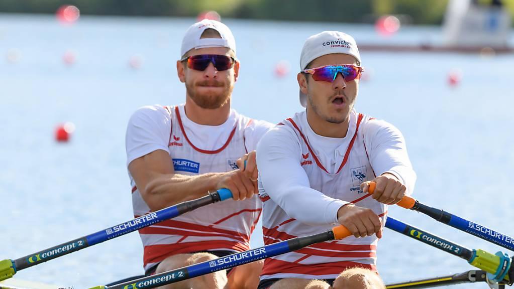Roman Röösli (vorne) und Barnabé Delarze holten für einmal keine Medaille.