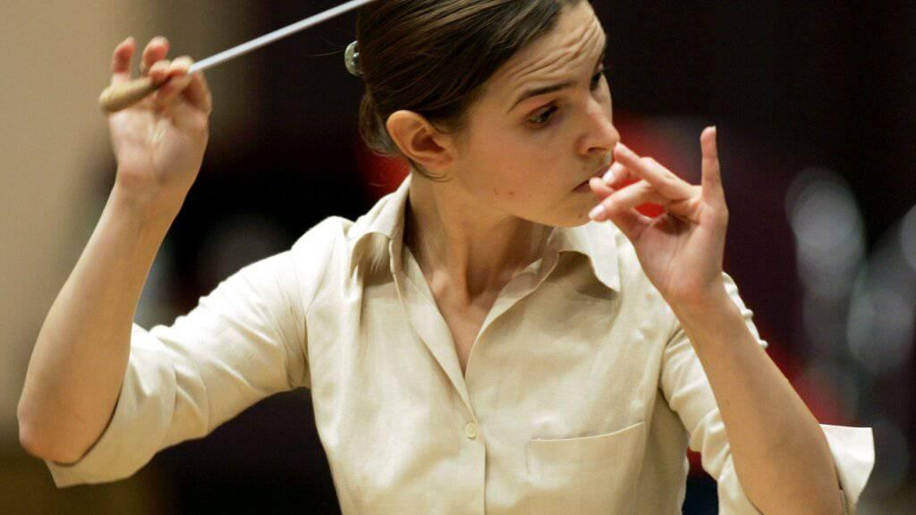 ARCHIV - Die Klassik-Branche ist nach Einschätzung der ersten Bayreuther Dirigentin Oksana Lyniv sehr konservativ. Foto: Ronald Wittek/dpa Foto: Ronald Wittek/dpa