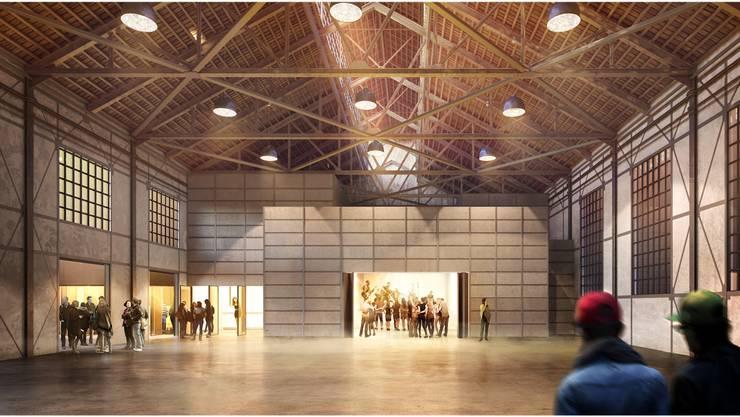 Das künftige Jugendkulturlokal in der Alten Schmiede muss noch ein paar Wochen auf einen Namen warten.Ladner Meier Architekten/zVg