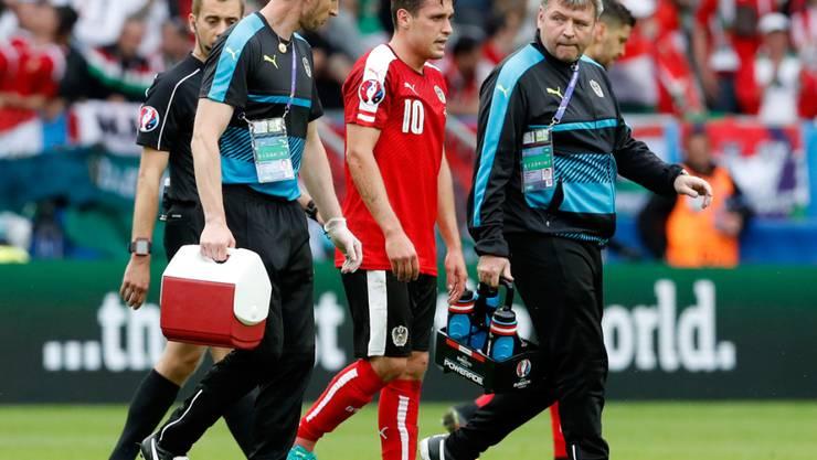 Für Österreichs Zlatko Junuzovic ist die EM-Vorrunde womöglich bereits vorbei