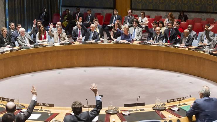 Abstimmung im UNO-Sicherheitsrat in New York über die Syrien-Resolution.