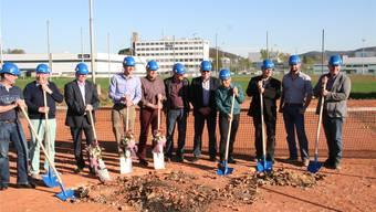 Historischer Spatenstich: Der TC Möhlin baut für rund 2 Millionen Franken eine neue Tennishalle an der Bata-Strasse. Ach