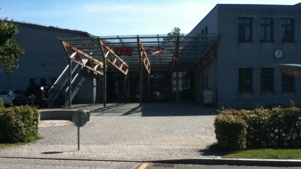Hier beim Oberstufenzentrum Gais haben die Vandalen gewütet.