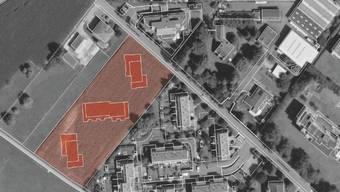 In drei neuen Mehrfamilienhäusern sollen 44 Wohnungen entstehen.