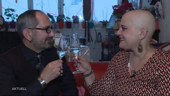 So berichtet TeleM1: Die 47-Jährige aus Baden besiegt um Weihnachten den Krebs