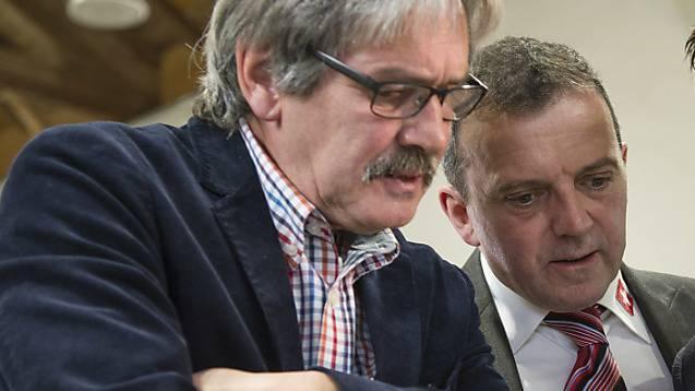 Die Solothurner Ständeratskandidaten Roberto Zanetti (SP) und Walter Wobmann (SVP)