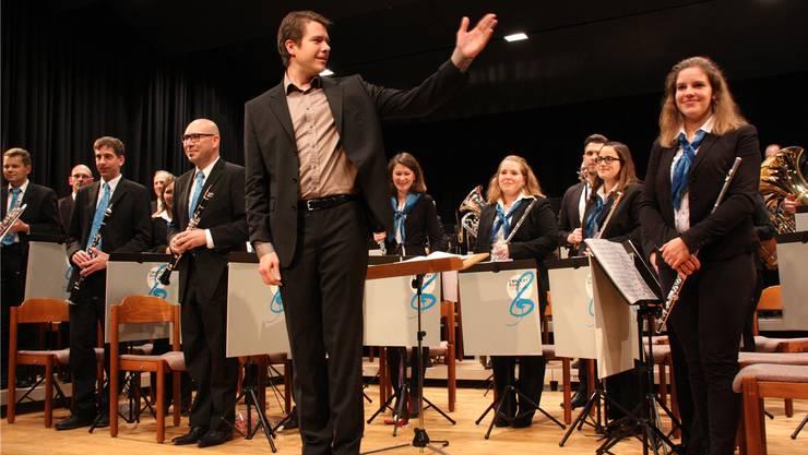 Arwed Peemöller dirigiert seit diesem Jahr die ConcertBand der Stadtmusik Lenzburg.