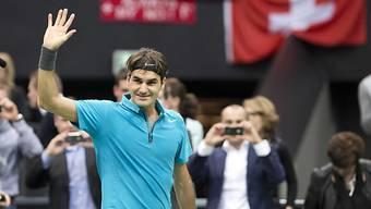 Weiter ohne Satzverlust: Roger Federer