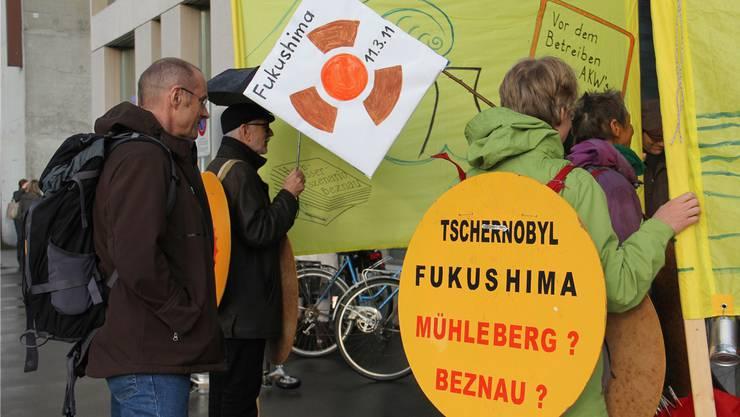 Die Mahnwachen finden vor dem Sitz des Eidgenössischen Nuklearsicherheitsinspektorats (Ensi) statt.