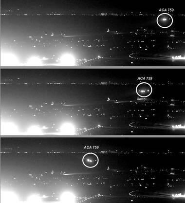 Eine Überwachungskamera dokumentiert den Beinahe-Crash.