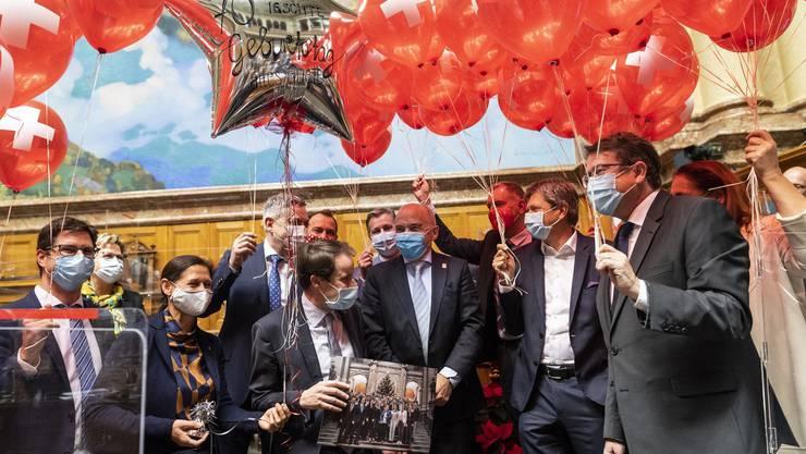 Bundesrat Ueli Maurer feiert am 1. Dezember seinen 70. Geburtstag.