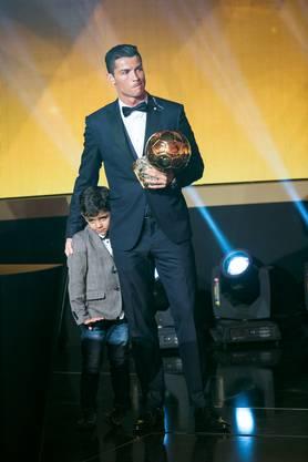 Ronaldos Sohn durfte auch auf die Bühne