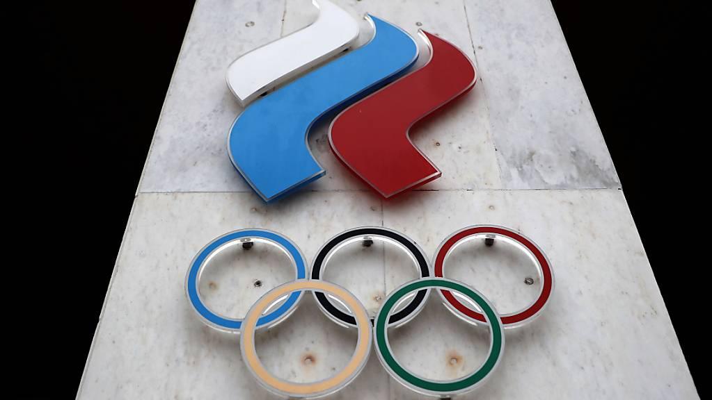 Das Logo des olympischen Komitees Russland