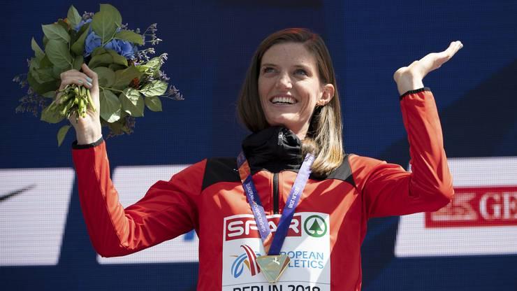 Die einzige Goldmedaille holte sich Hürdenkönigin Léa Sprunger