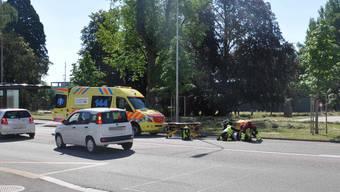 Beide gestürzten Personen wurden zur Kontrolle ins Spital gebracht.