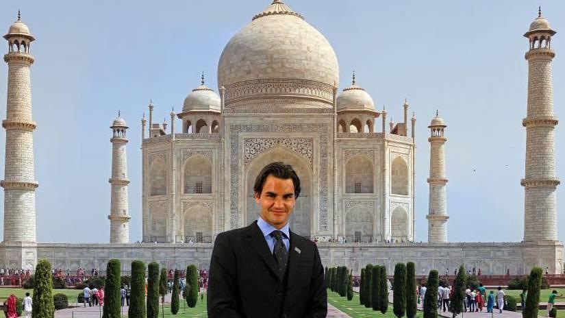 Roger Federer reist dank Photoshop durch Indien
