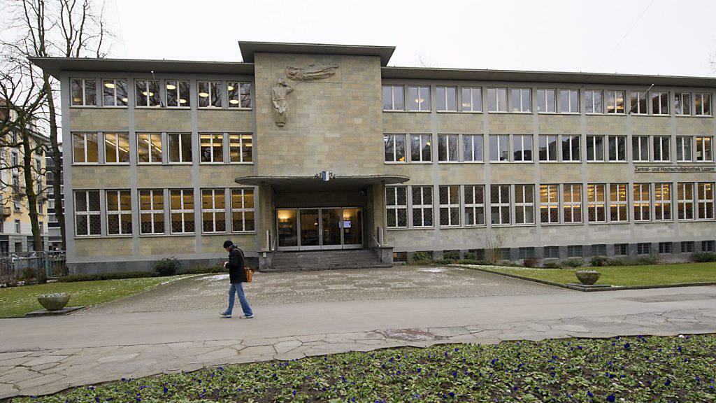 Die Zentral- und Hochschulbibliothek (ZHB) in Luzern. (Archivaufnahme)