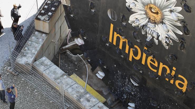 Veraison steigt bei Implenia aus: eine Tunnelbohrmaschine des Schweizer Baukonzerns (Archivbild).