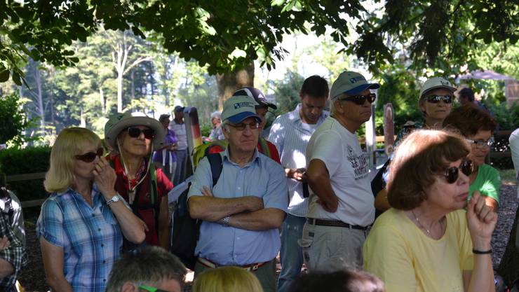 Zuhörer auf dem Eichberg