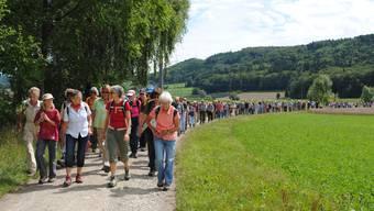 Impressionen von der Leserwanderung von Brugg nach Remigen