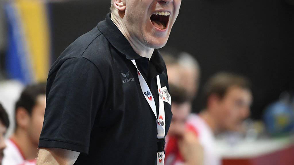 Schwierige Aufgabe für Michael Suter und die Schweizer Handball-Nationalmannschaft