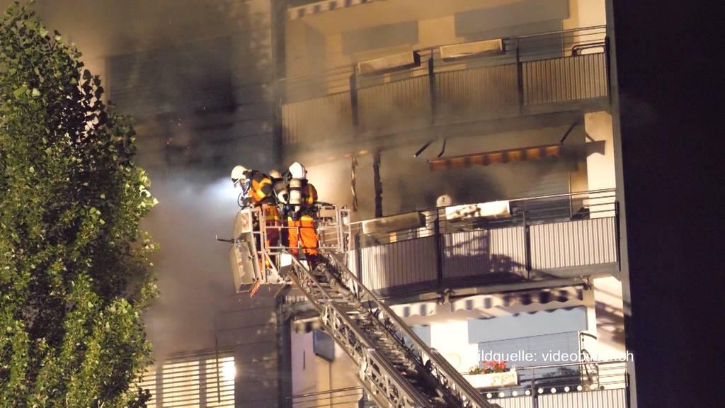 Mehrere Verletzte nach Hochhausbrand in Zofingen