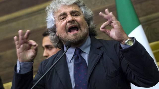 Unzufrieden: Der italienische Populist Beppe Grillo (Archiv)