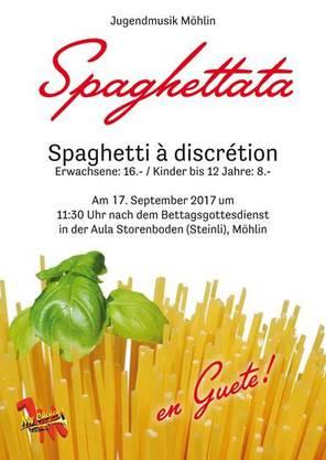 Flyer Spaghettata