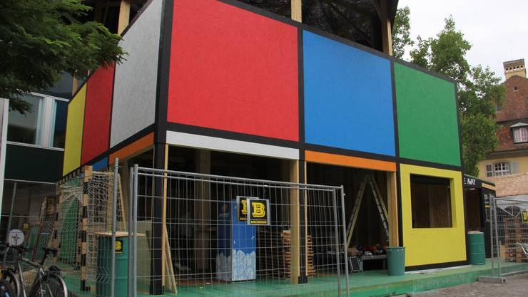 Die preisgekrönte Festbeiz Rubik's Cube wird am Dienstag zum grössten Teil abgebaut.